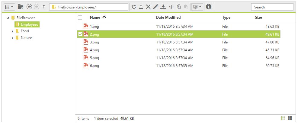 ASP NET Web Forms File Explorer Control | Syncfusion