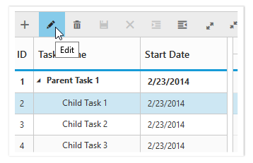 Gantt with toolbar