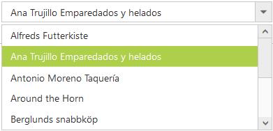 ASP NET Web Forms DropDown List Control | Dropdown menu