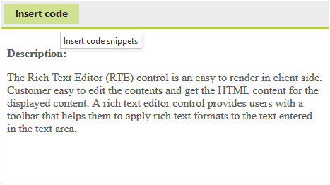 Rich Text Editor custom toolbar