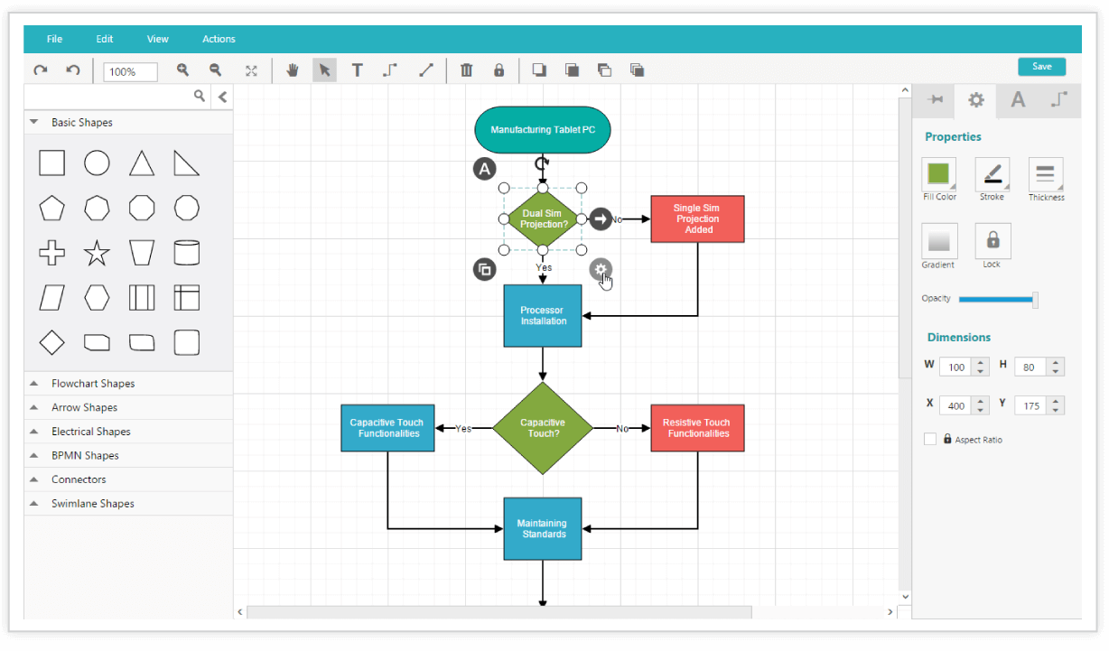 Diagram component is used for symbolic representation of data flow view demo diagram builder nvjuhfo Gallery