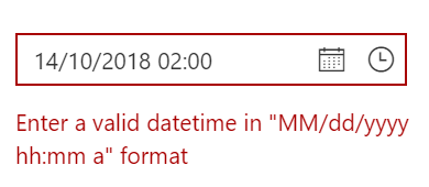 Date and time validation