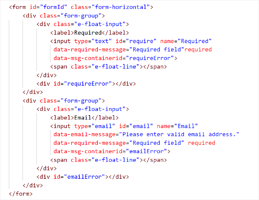 HTML5 Code Snippet