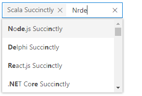 ASP.NET Core MultiSelect Dropdown with custom filtering Fuzzy search.