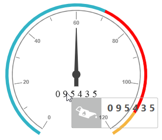 Circular gauge with tooltip