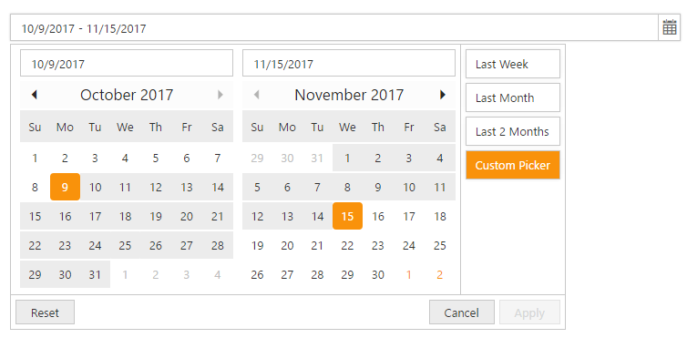 Date Range Picker