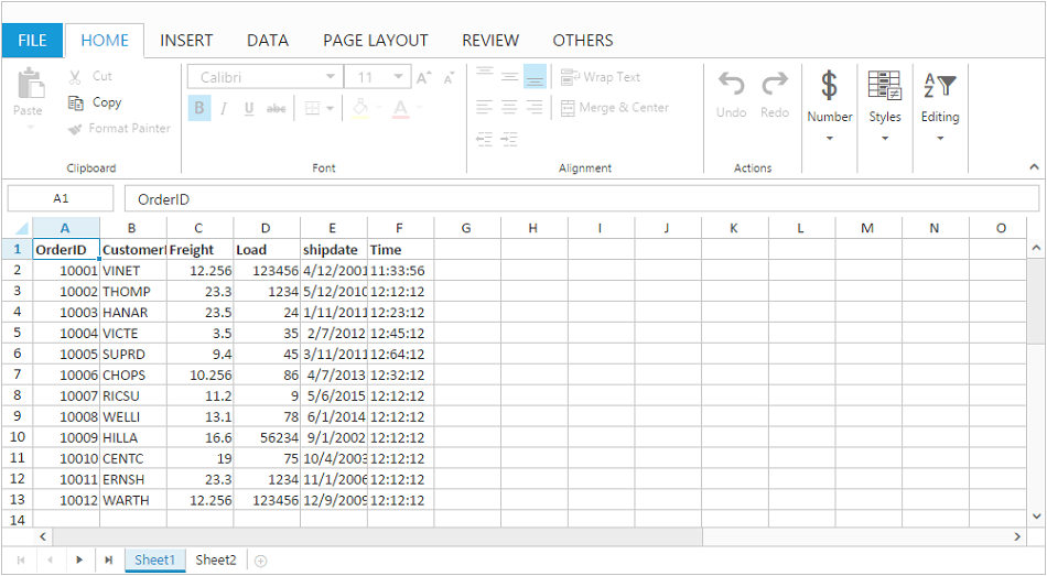 Read Only for cells in Spreadsheet