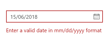Form support and date validation