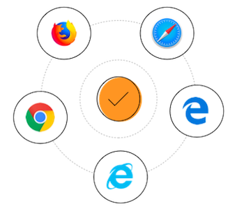 Supported web browsers for ASP.NET MVC Data Grid.