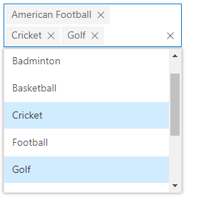 ASP.NET MVC MultiSelect Dropdown with chip mode