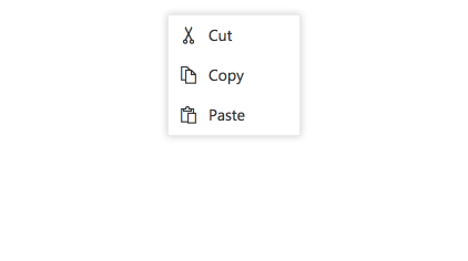 JavaScript Context menu with icons