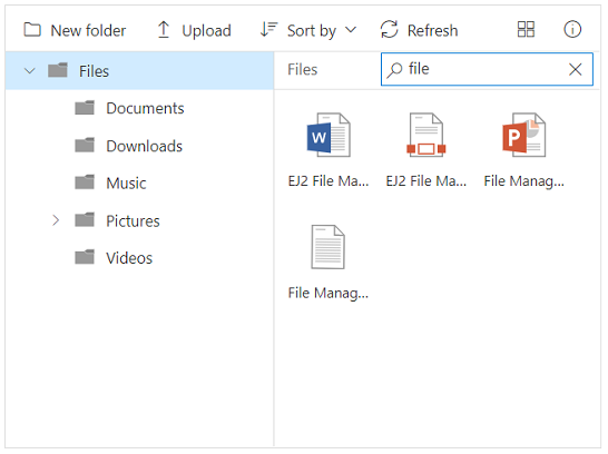 JavaScript File Manager | HTML5 File Explorer | Syncfusion
