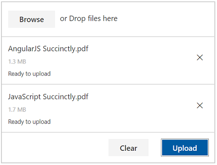 JavaScript File Upload Control with disabled automatic upload