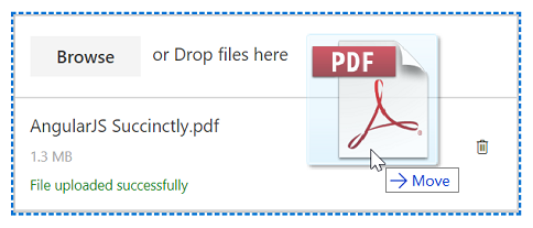 Drag-and-drop upload enabled in JavaScript File Upload Control