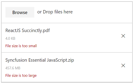 Restricts upload file size in JavaScript File Upload Control