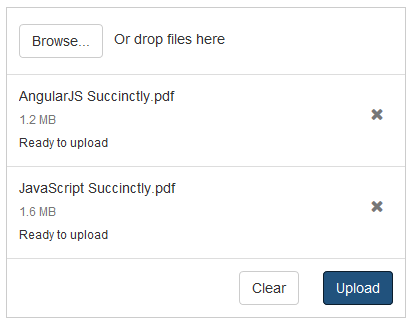 JavaScript/HTML5 file upload with manual upload