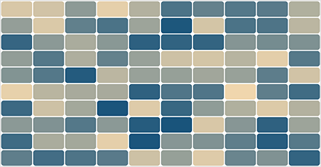JavaScript Heatmap cell with customized borders