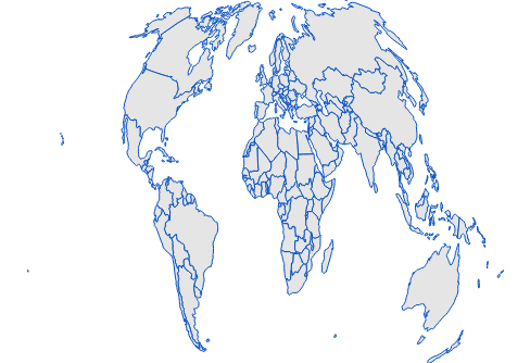 JavaScript Maps is rendered in AitOff projection