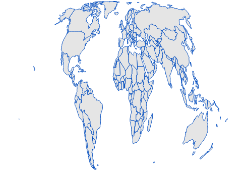 JavaScript Maps is rendered in Eckert6 projection