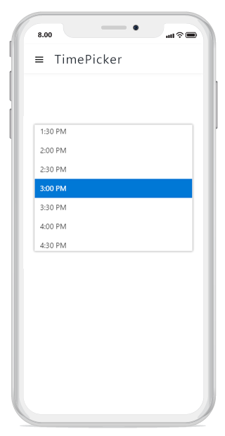 JavaScript timepicker shows the popup at the center of the screen on mobile devices