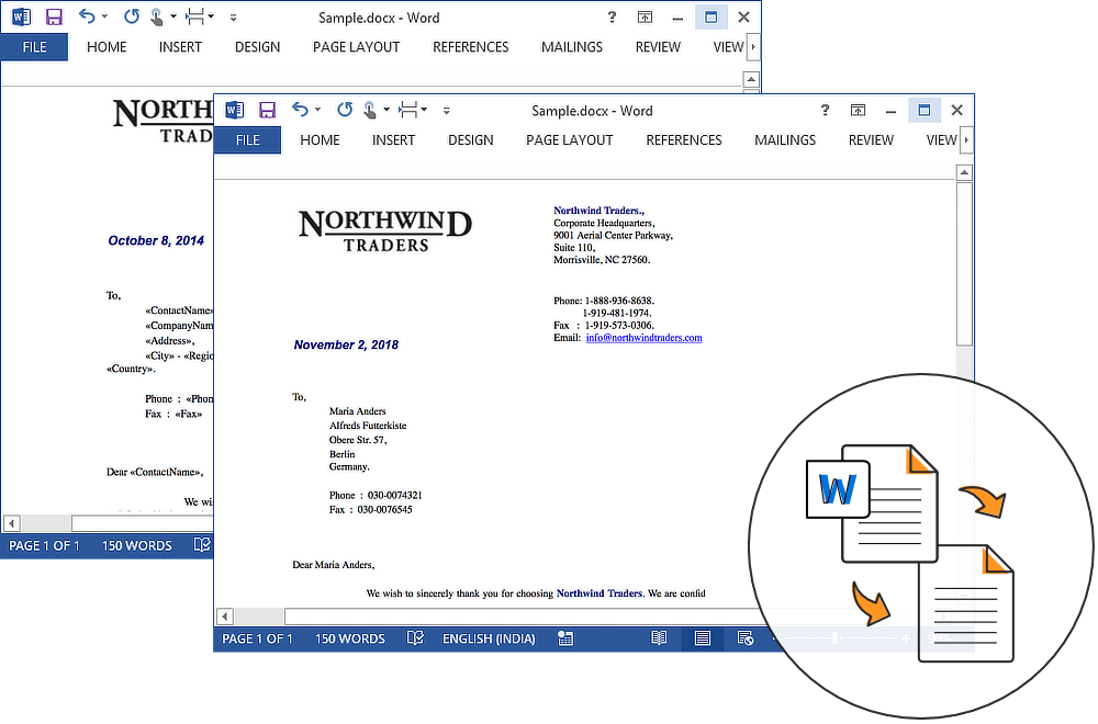 Create Word documents |  NET Word Library | Syncfusion