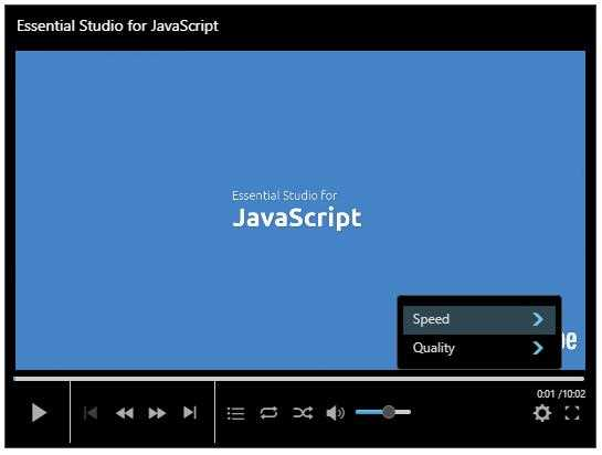 jQuery Media Player Control | Syncfusion