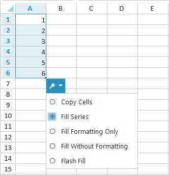 Auto fill the cells in Spreadsheet using Drag-fill