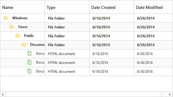 Custom column template support in tree grid
