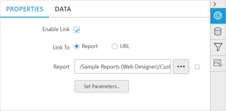 HTML5 JavaScript/JS Report Designer Drill through reports