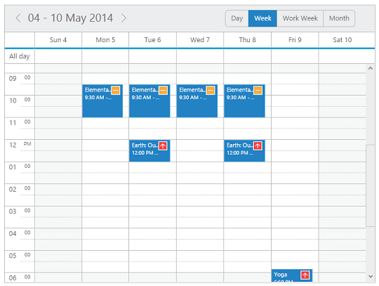 Appointment Priority in jQuery Scheduler/Event calendar