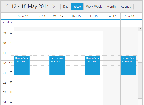 First Day of the Week in jQuery Scheduler/Event calendar