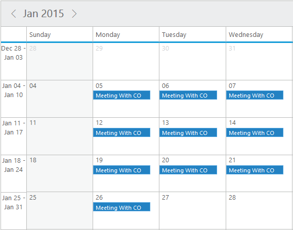 Recurrence option in jQuery Scheduler/Event calendar