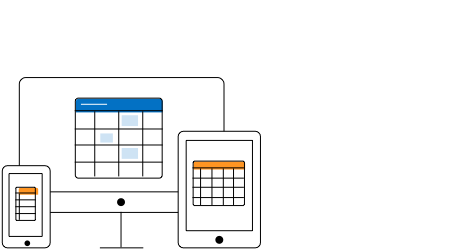 Illustration of adaptive UI of HTML5 JavaScript scheduler