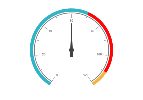 JSP Circular gauge with scale customization