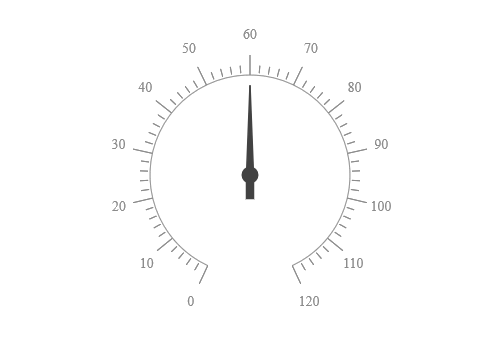 JSP Circular gauge with customized ticks