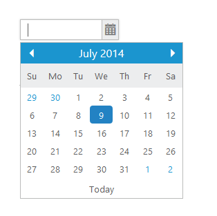JSP DatePicker Control | Syncfusion