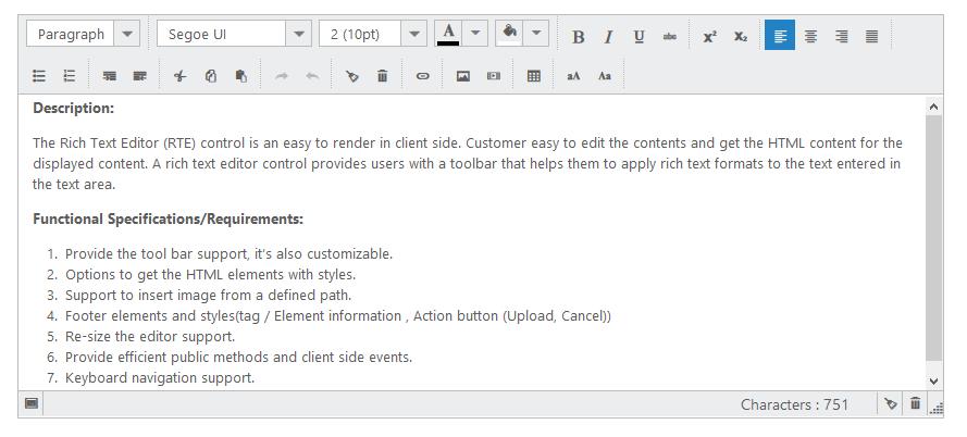JSP Rich Text Editor | WYSIWYG HTML Editor | Syncfusion