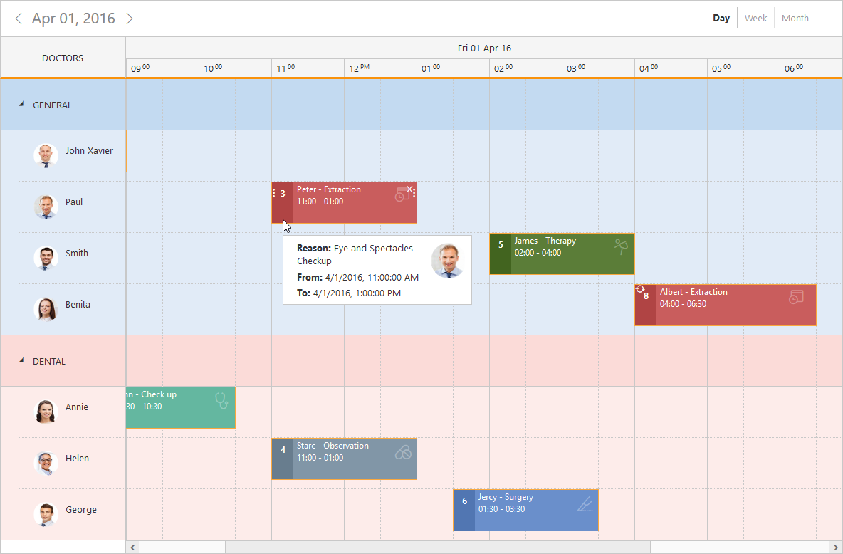Scheduler Control for JSP | Event Calendar | Syncfusion