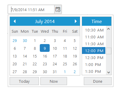 PHP DateTime Picker Control | Syncfusion