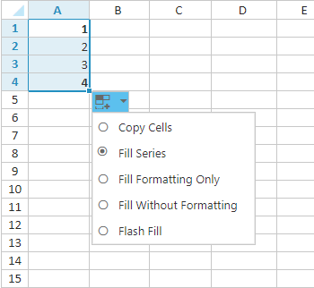 fill series like excel