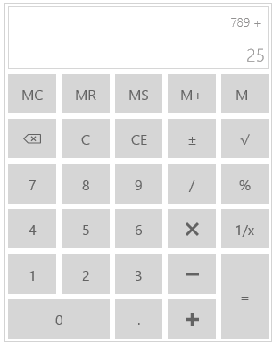 uwp simple calculator