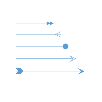 Represent relationships between connected objects using arrows in UWP Diagram control.