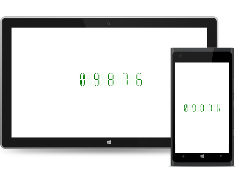 UWP digital gauge supports different character types