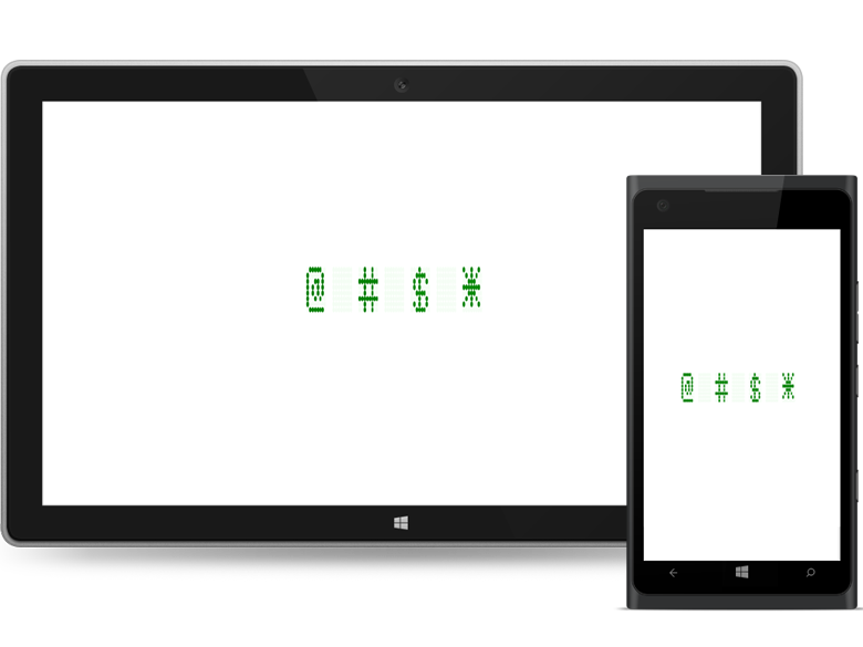 Letters, numbers, and special characters can display in WPF digital gauge