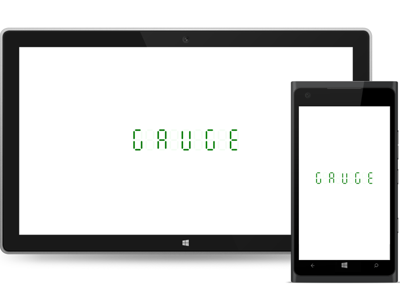 UWP digital gauge supports different character customization