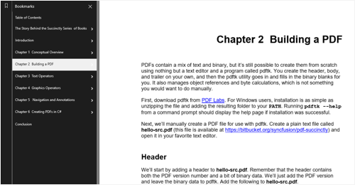 Bookmark navigation
