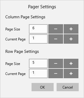 Pager settings in UWP pivot client control