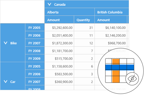 Hiding subtotals and grand totals in UWP pivot grid control