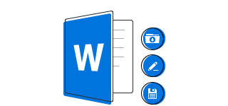 An illustration of Microsoft Word compatibility.