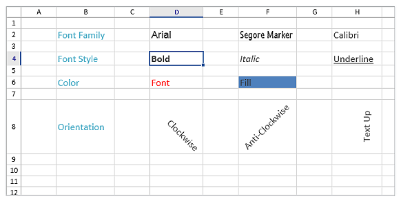 Excel like font styles for UWP Spreadsheet
